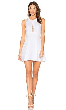 Fit & Flare Dress in Optic White