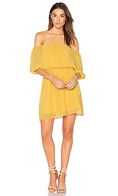 Blouson Dress in Bright Amber