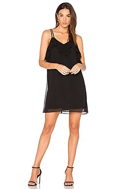 Ruffled Mini Dress in Black