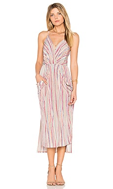 Draped Midi Dress in Multi