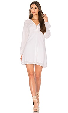 Airy Button Dress in Optic White