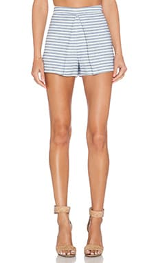 BCBGeneration Pleat Front Skort in Blue Combo