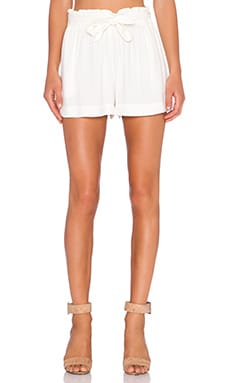 BCBGeneration Tie Waist Short in Whisper White