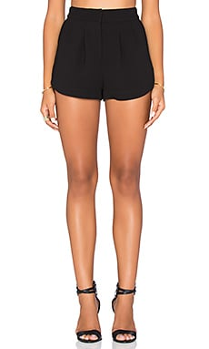 BCBGeneration Pleated Short in Black