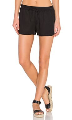Gathered Waist Short in Black