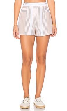 BCBGeneration Stripe Short in Sand Combo