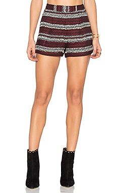 Pleat Short en Wine Red Multi