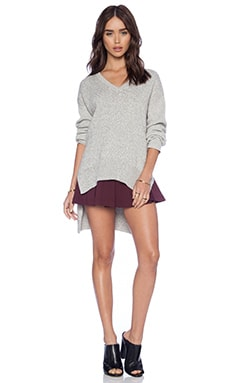 BCBGeneration Pullover Sweater in Marled Silver