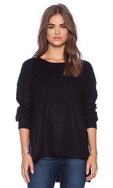 BCBGeneration Waffle Stitch Sweater in Black