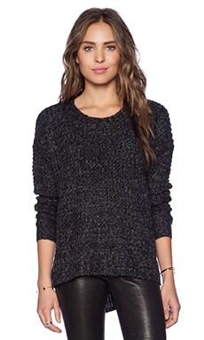 BCBGeneration Waffle Stitch Sweater in Black Combo