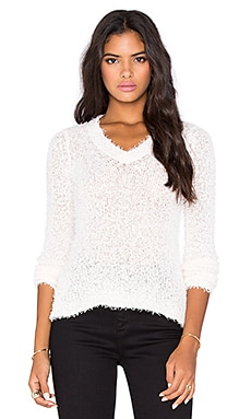 BCBGeneration V Neck Sweater in Blush