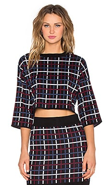 BCBGeneration Plaid Sweater in Black Combo