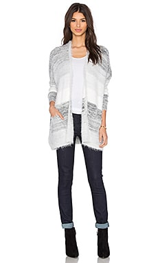 BCBGeneration Oversized Cardigan in Grey Combo