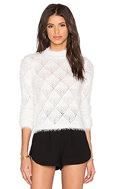 Cropped Turtleneck in Optic White