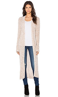BCBGeneration Long Cardigan in White Combo