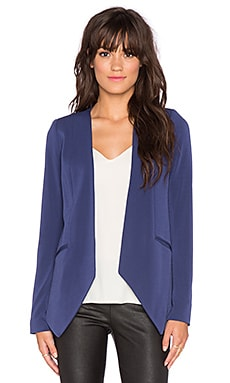 Knit Blazer in Navy Sea