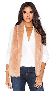 Faux Fur Vest in Blush