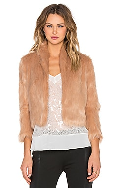BCBGeneration Faux Fur Jacket in Blush