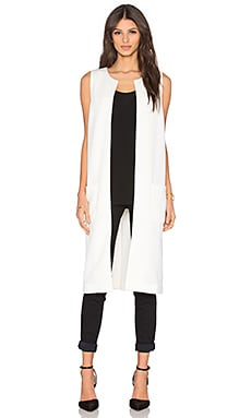 BCBGeneration Oversized Vest in Whisper White