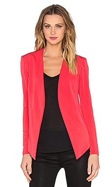 BCBGeneration Drape Front Jacket in Cardinal
