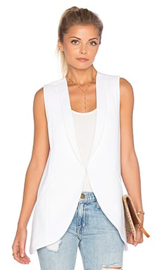 Sleeveless Blazer in Optic White