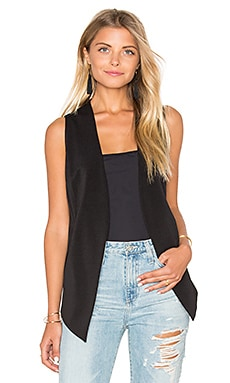 BCBGeneration Open Vest in Black