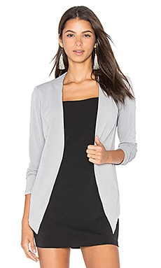 BCBGeneration Drape Front Jacket in Grey Frost