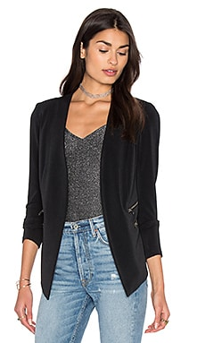 Open Front Jacket in Black