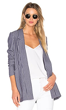Front Pocket Blazer in Indigo Combo