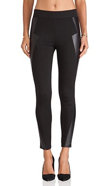 BCBGeneration Blocked Legging in Black Combo