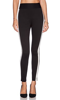 High Waisted Legging in Black Combo