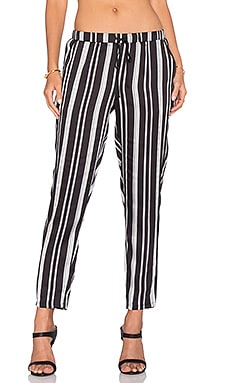 BCBGeneration Stripe Pant in Black Combo