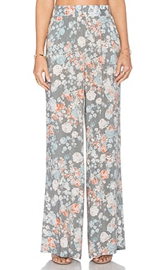 BCBGeneration Floral Wide Leg Pant in Slate Combo
