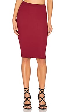 Seamless Midi Skirt in Dark Rouge