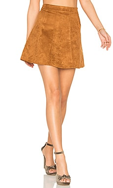 A Line Skirt in Golden Cognac