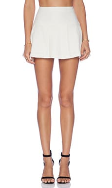 Pleated Mini Skirt in Whisper White