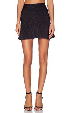 BCBGeneration Ruffle Hem Skirt in Black