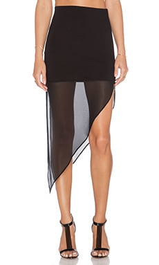BCBGeneration Asymmetric Skirt in Black