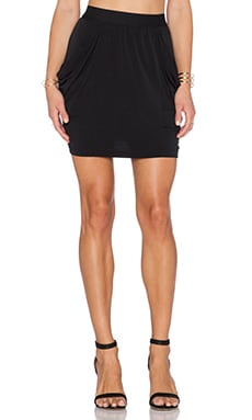 BCBGeneration Drapey Pocket Skirt in Black