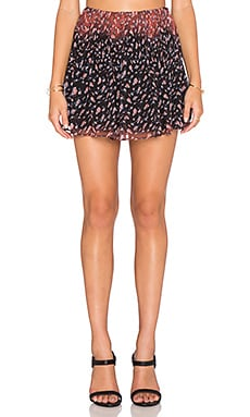 BCBGeneration Release Pleat Mini Skirt in Black Multi