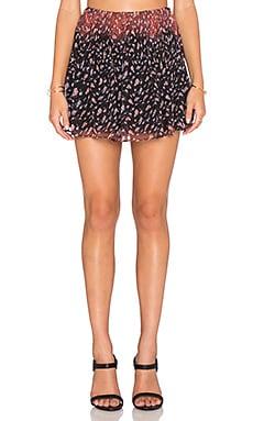 BCBGeneration Release Pleat Mini Skirt in Black Multi