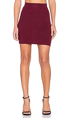 BCBGeneration Sweater Knit Mini Skirt in Wine