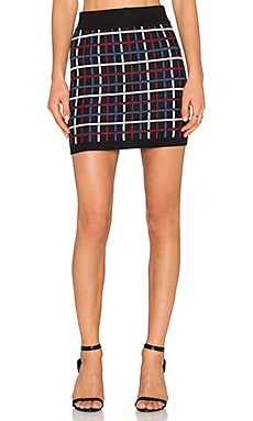 BCBGeneration Plaid Mini Skirt in Black Combo