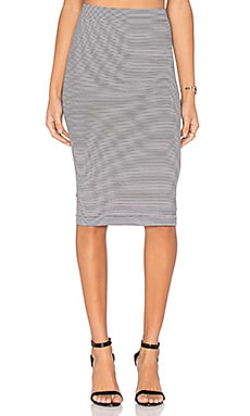 BCBGeneration Seamless Midi Skirt in Black Combo
