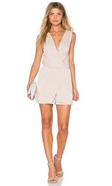 Drape Wrap Romper in Sand