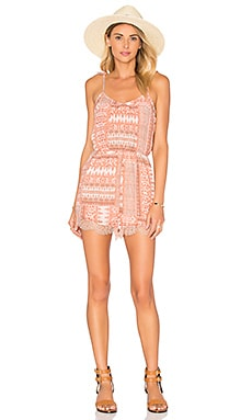 Romper in Peach & Rose Multi