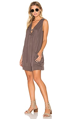 Sleeveless Romper in Coffee Bean