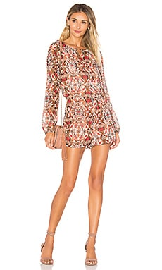 Dolman Sleeve Romper in Coffeebean Multi