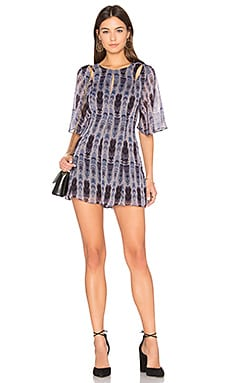 Flutter Romper in Granite Combo
