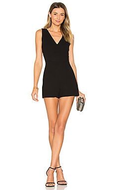Simple V Romper in Black